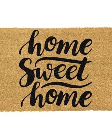 Rohožka z prírodného kokosového vlákna Artsy Doormats Home Sweet Home, 40 x 60 cm