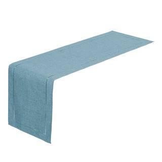 Svetlomodrý behúň na stôl Unimasa, 150 x 41 cm