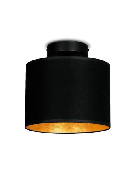 Sotto Luce Čierne stropné svietidlo s detailom v zlatej farbe Sotto Luce MIKA Elementary XS CP