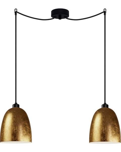 Sotto Luce Dvojramenné závesné svietidlo v zlatej farbe Sotto Luce AWA Elementary 2S
