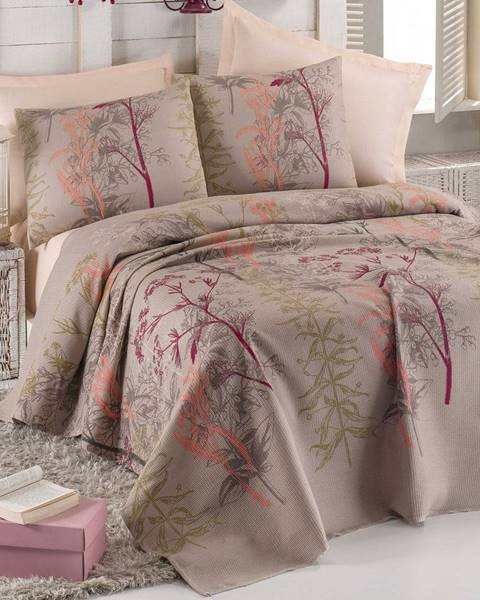 Eponj Home Ľahký bavlnený pléd s plachtou na dvojlôžko Urla, 200×235 cm