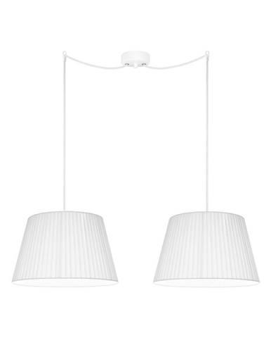 Biele dvojramenné závesné svietidlo Sotto Luce KAMI Elementary M 2S