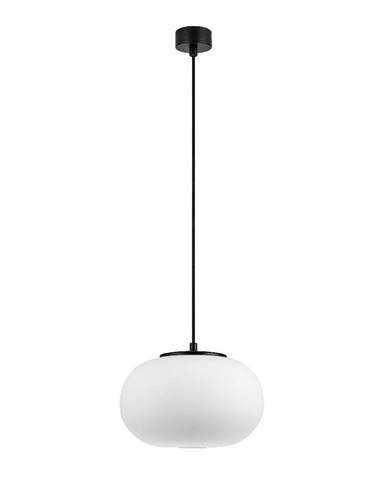 Biele závesné svietidlo s čiernou objímkou Sotto Luce DOsI