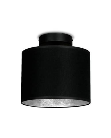 Čierne stropné svietidlo s detailom v striebornej farbe Sotto Luce MIKA Elementary XS CP
