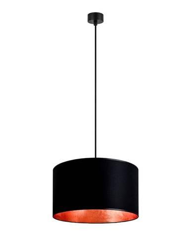 Čierne stropné svietidlo s vnútrom v medenej farbe Sotto Luce Mika, ∅ 40 cm