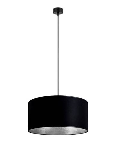 Čierne stropné svietidlo s vnútrajškom v striebornej farbe Sotto Luce Mika, ∅ 40 cm