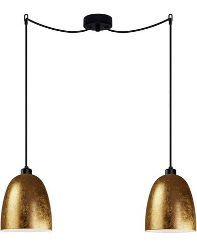 Dvojité stropné svietidlo v zlatej farbe Sotto Luce AWA Elementary 2S