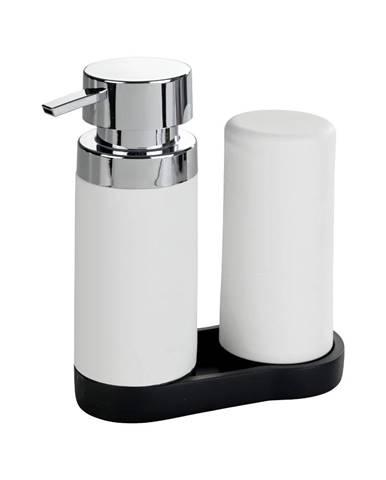 Sada 2 bielych zásobníkov na umývací prostriedok Wenko Squeeze, 250ml