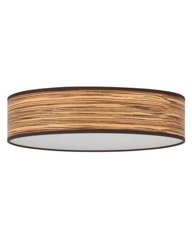 Svetlohnedé stropné svietidlo s tienidlom z prírodnej dyhy Bulb Attack Ocho Clear, ⌀ 40 cm