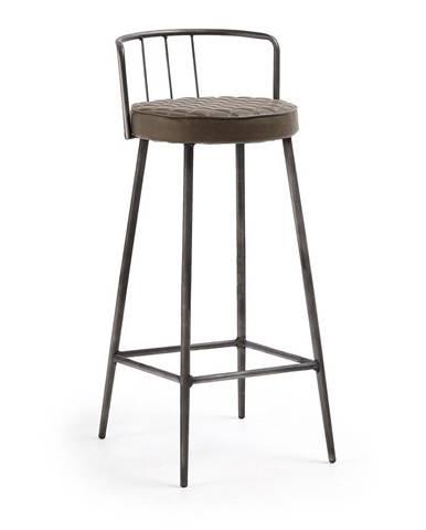 Hnedá barová stolička La Forma, výška 92 cm