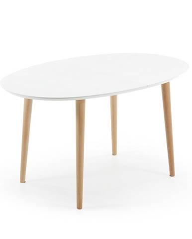 Rozkladací jedálenský stôl z bukového dreva La Forma Oakland, 140 x 90 cm