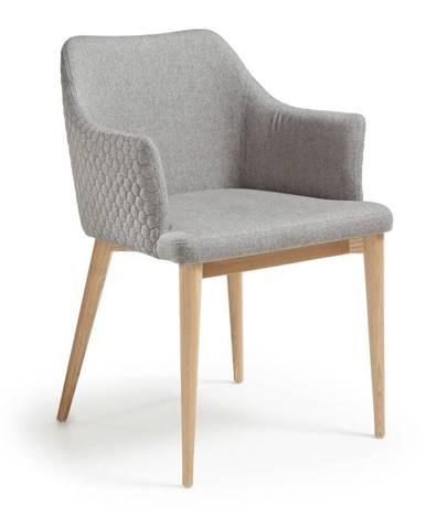 Svetlosivá jedálenská stolička La Forma Danai