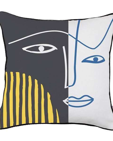 Apolena Obliečka na vankúš Mike&Co.NEWYORK Dark Abstract Face, 43 × 43 cm