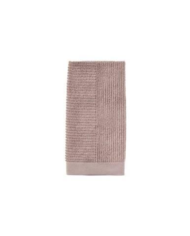 Béžový bavlnený uterák Zone Classic Nude, 50 × 100 cm