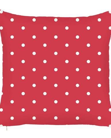 Červená obliečka na vankúš Mike&Co.NEWYORK Dots, 43 × 43 cm