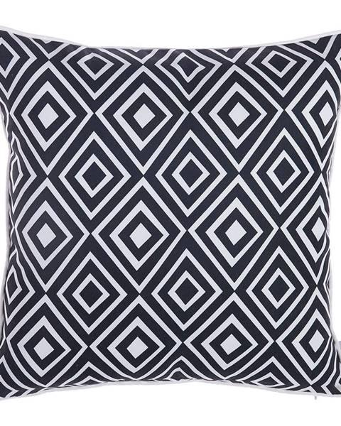 Apolena Čierno-biela obliečka na vankúš Mike&Co.NEWYORK Rhombus, 43 × 43 cm