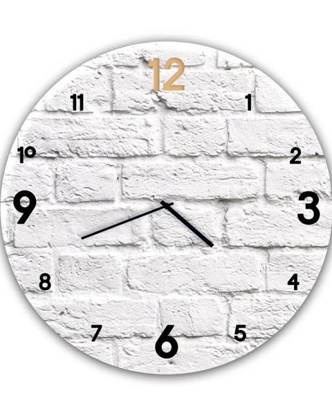 Styler Nástenné hodiny Styler Glassclock Brick, ⌀ 30 cm