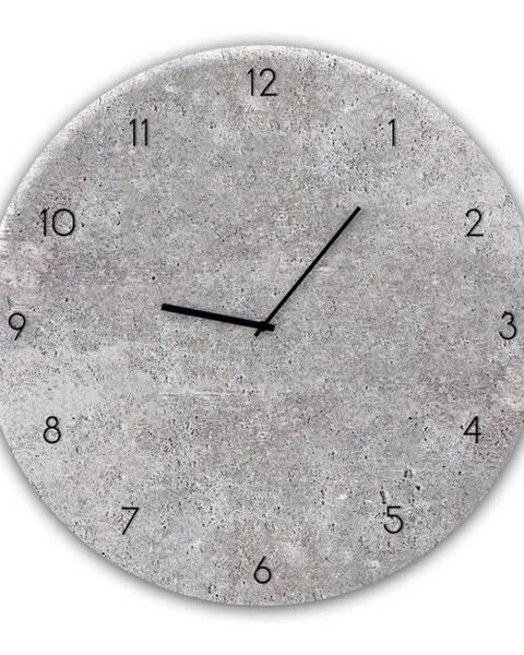 Styler Nástenné hodiny Styler Glassclock Concrete II, ⌀ 30 cm