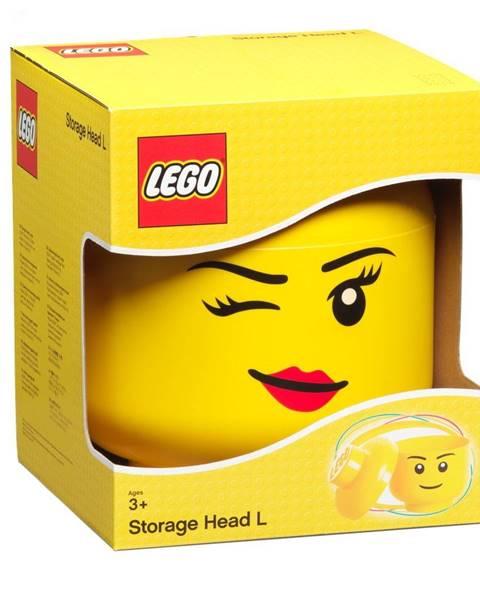 LEGO® Žltý úložný box v tvare hlavy LEGO® Winky, ⌀ 24,2 cm
