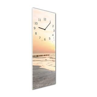 Nástenné hodiny Styler Glassclock Beach, 20×60 cm