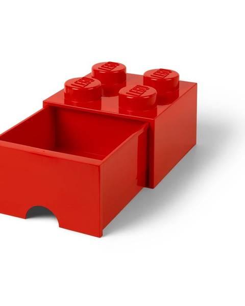 LEGO® Červený úložný box so zásuvkou LEGO®