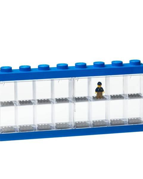 LEGO® Modrá zberateľská skrinka na 16 minifigúrok LEGO®