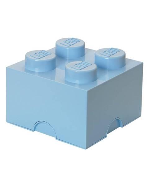 LEGO® Svetlomodrý úložný box štvorec LEGO®