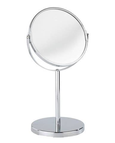 Chrómované kozmetické stojacie zrkadlo Wenko Assisi