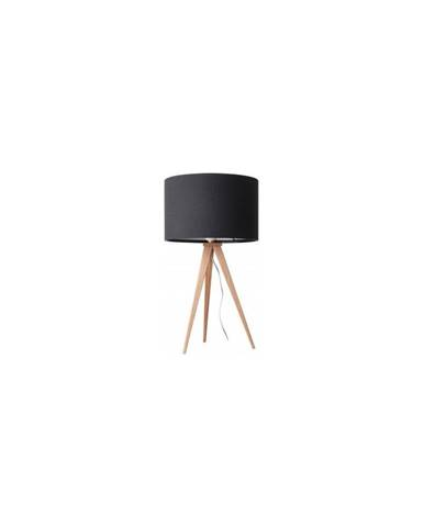 Čierna stolová lampa Zuiver Tripod Wood