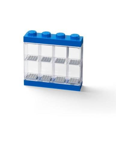 Modrá zberateľská skrinka na 8 minifigúrok LEGO®