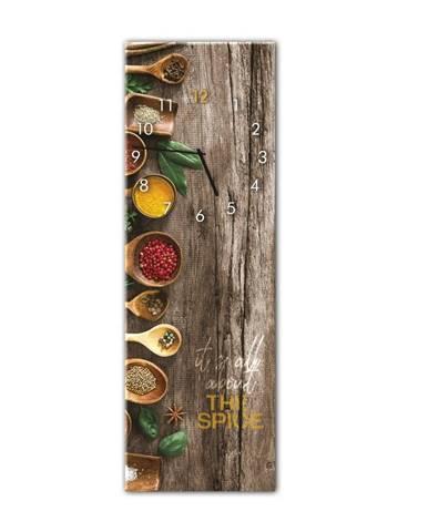 Nástenné hodiny Styler Glassclock Spice, 20×60 cm