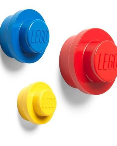Sada 3 vešiakov na stenu LEGO® Colour