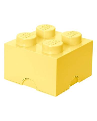 Svetložltý úložný box štvorec LEGO®