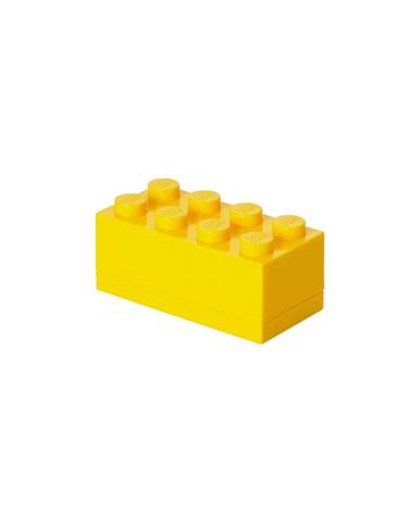 Žltý úložný box mini LEGO®