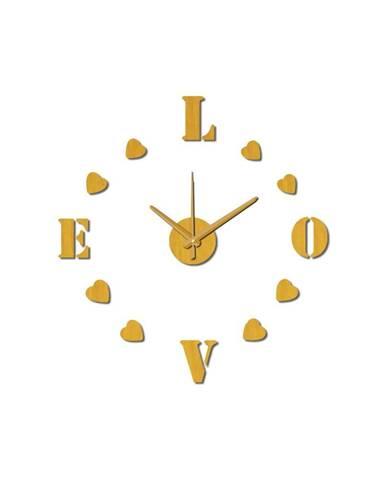 Nástenné nalepovacie hodiny Mauro Ferretti Love, ⌀ 60 cm