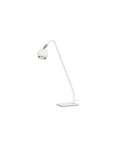 Markslöjd Biela stolová lampa Markslöjd Coco, výška 47 cm