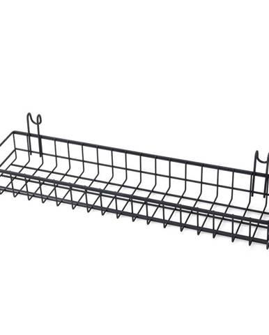 Čierny prídavný košík k nástenke Reminder, dĺžka 40 cm