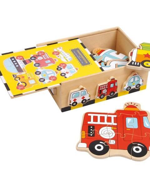 Legler Drevené puzzle Legler Vehicles