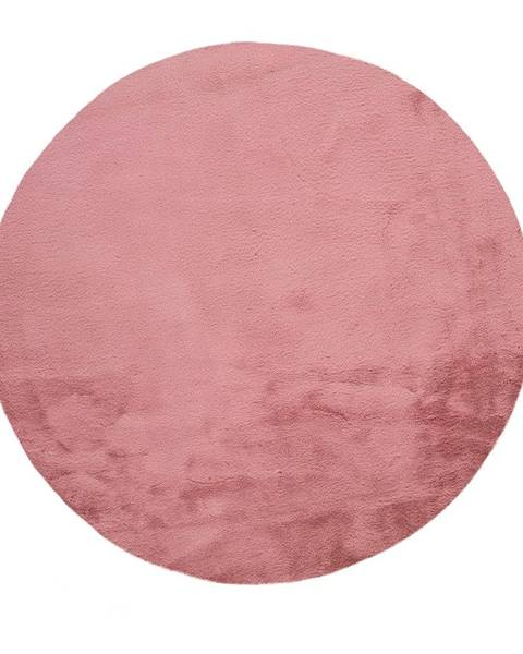 Universal Ružový koberec Universal Fox Liso, Ø 120 cm