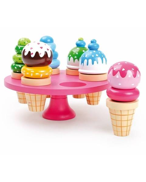 Legler Set 6 drevených zmrzlín na hranie so stojanom Legler Waffle Ice Cream