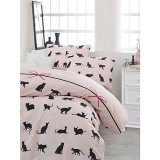 Obliečky s plachtou na dvojlôžko Cats, 200×220cm