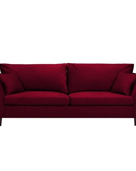 Mazzini Sofas Červená rozkladacia pohovka s úložným priestorom Mazzini Sofas Pivoine