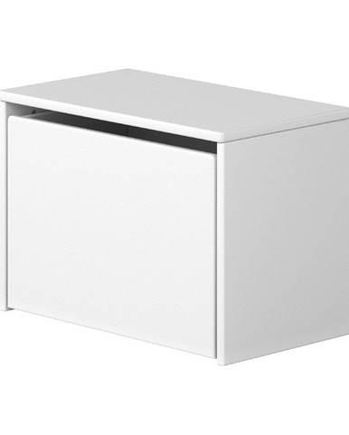 Biela úložná lavica Flexa Dots