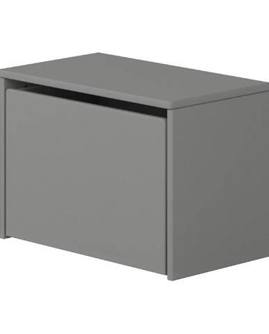Sivá úložná lavica Flexa Dots