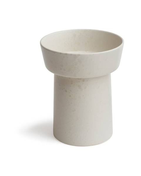 Kähler Design Biela kameninová váza Kähler Design Ombria, výška 20 cm