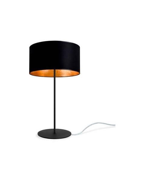 Sotto Luce Čierno-zlatá stolová lampa Sotto Luce MIKA M 1T