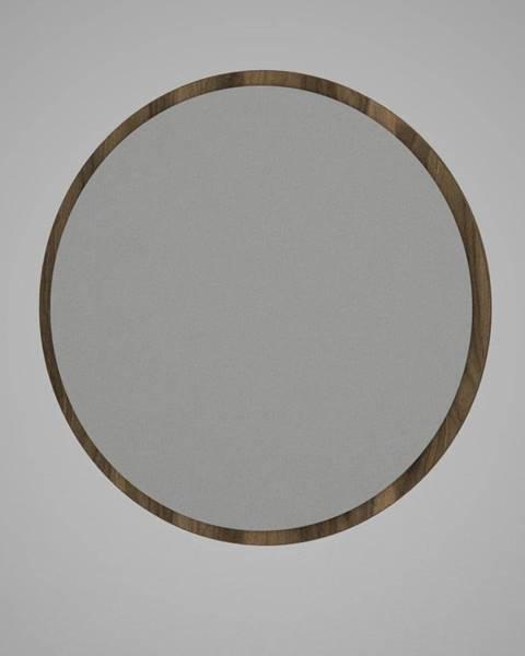 Tera Home Guľaté nástenné zrkadlo v hnedom ráme Glob, ⌀ 59 cm
