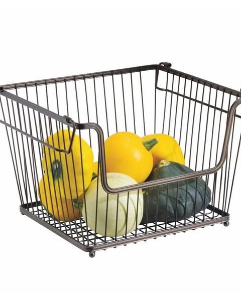 iDesign Kovový vykrojený košík na zeleninu iDesign York, 32×27,5cm