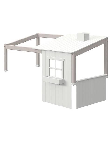 Flexa Sivý polovičný rám k domčekovej posteli Flexa Classic