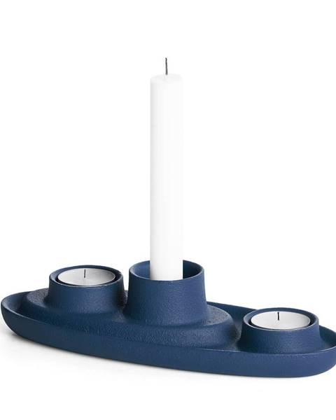 EMKO Tmavomodrý svietnik EMKO Aye Aye Three Candles